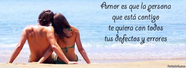 amor es que la persona que esta contigo te quiera con todos tus defectos y errores