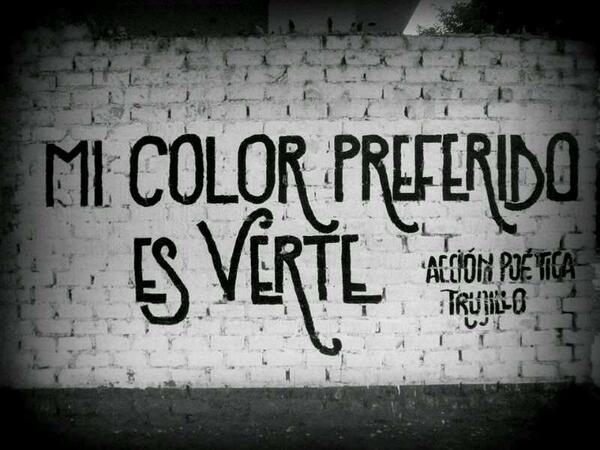 Mi color preferido es verte accion poetica trujillo