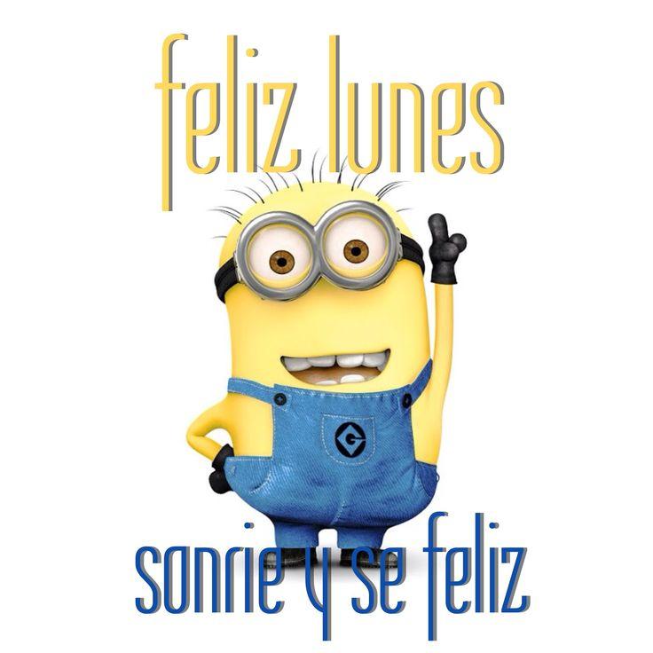Feliz lunes sonríe y sé feliz