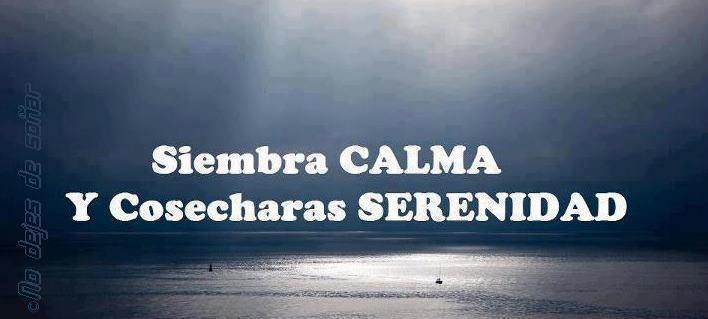 Siembra calma y cosecharás serenidad