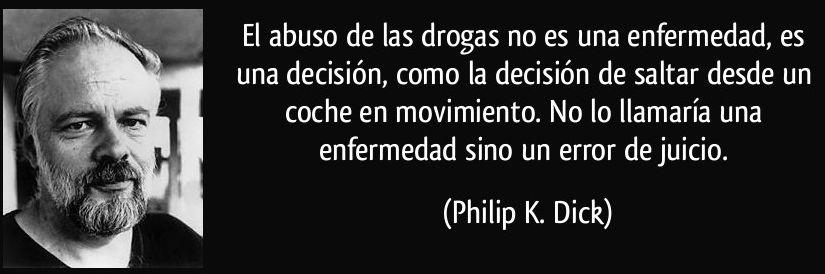 El abuso de las drogas no es una enfermedad es una decisión como la decisión de saltar desde un coche en movimiento