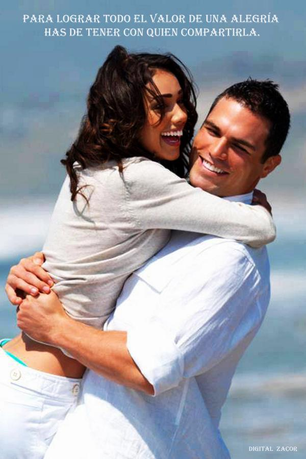 Para lograr todo el valor de una alegría has de tener con quien compartirla