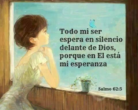 Todo mi ser espera en silencio delante de Dios porque en Él está mi esperanza