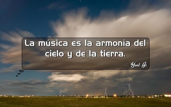 La música es la armonía del cielo y de la tierra