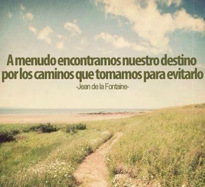 A menudo encontramos nuestro destino por los caminos que tomamos para evitarlo