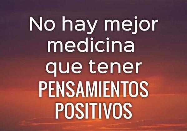 No hay mejor medicina que tener pensamientos positivos