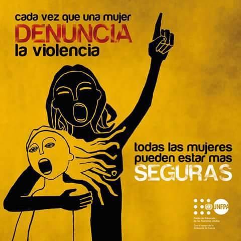 cada vez que una mujer denuncia la violencia, todas las mujeres pueden estar mas seguras