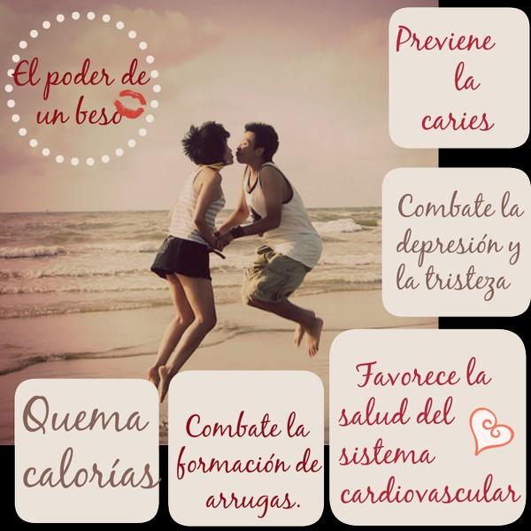 el poder de un beso previene la caries combate la depresion y la tristeza quema calorias