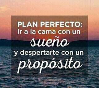 Plan perfecto: Ir a la cama con un sueño y despertarte con un propósito