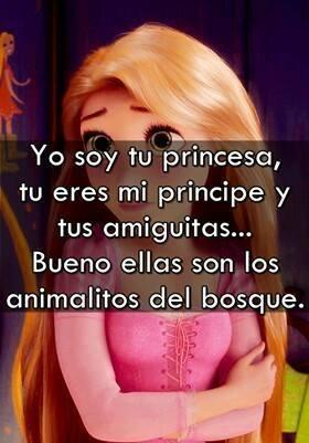 yo soy tu princesa tu eres mi principe y tus amiguitas bueno ellas son los animalitos del bosque